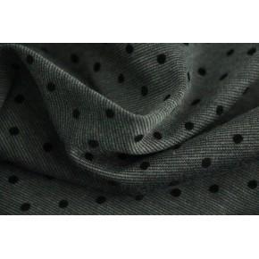 Milano gris à pois noirs