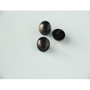 Bouton boule noire à paillettes dorées