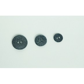 Bouton nacre noir paillettes argentées