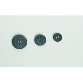 Bouton nacre noir paillettes argentées 22MM