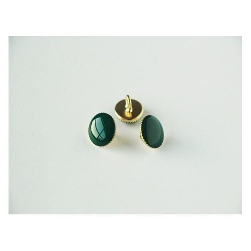 Bouton rond métal vert