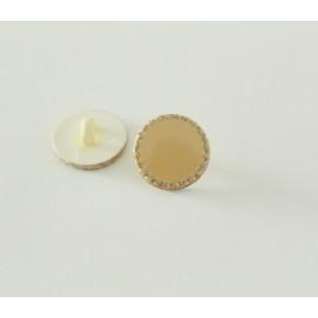 Bouton Alphonsine beige/doré