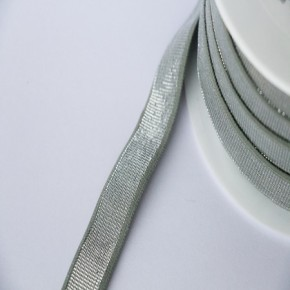 Elastique céladon lurex argent lisse 18 mm