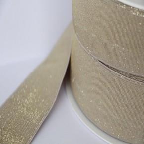 Elastique nude lurex doré lisse 40 mm