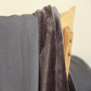 Molleton gris anthracite envers douillette