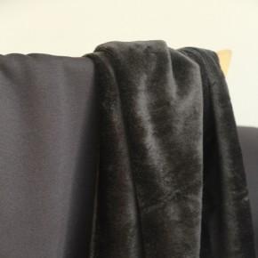 Molleton noir envers douillette