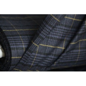 Flanelle carreaux gris/bleu/jaune