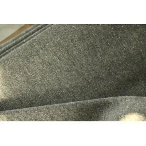 Molleton gris foncé lurex argent