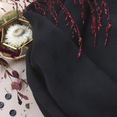 Viscose DIAMOND BLACK- Atelier Brunette