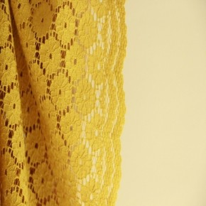 Dentelle jaune sunflowers moutarde