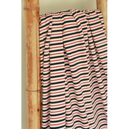 Jersey rayures marine/rouge/écru