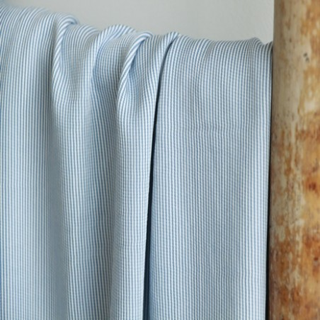 viscose stripe blue