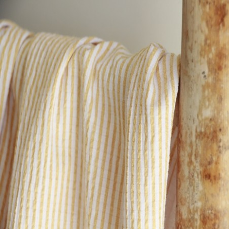 tissu seersucker jaune