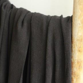 tissu lin viscose noir
