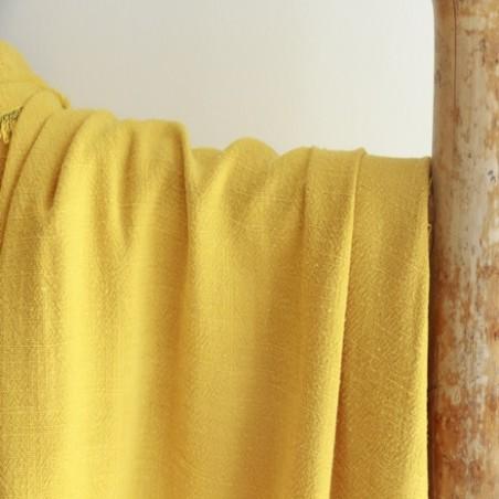 tissu lin et viscose jaune