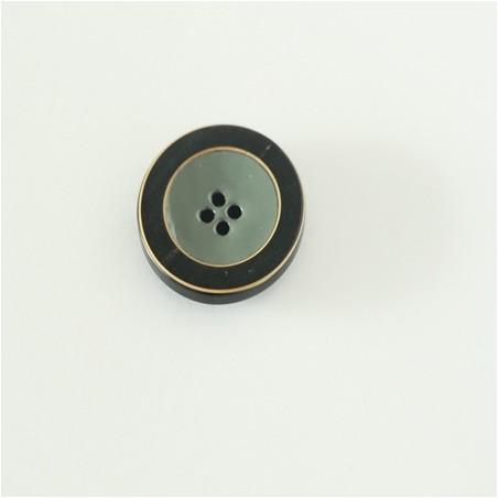 bouton vert de gris émaillé 25 MM
