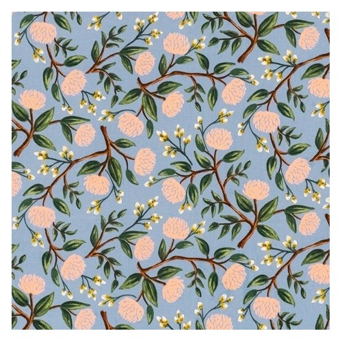 PEONIES DUSTY BLUE RIFLE PAPER CO