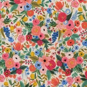 coton et lin canvas garden party pink rifle paper co