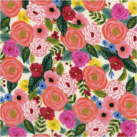 viscose juliet rose cream  rifle paper co