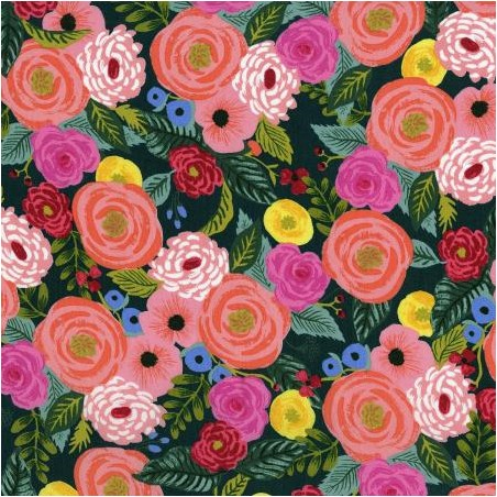 viscose juliet rose navy rifle paper co