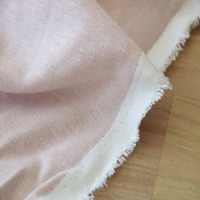 lin et viscose chambray rose