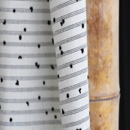 coton à rayures noires et pois edgar