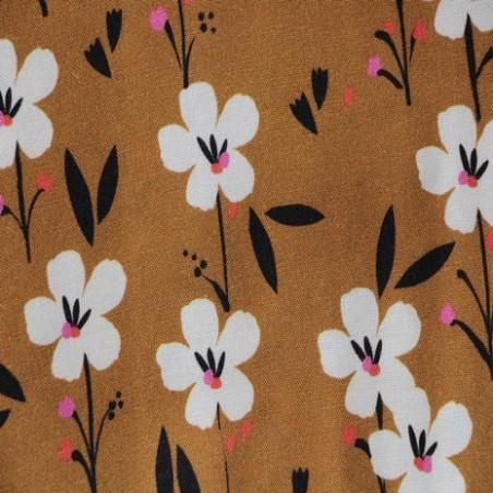 tissu viscose fleurs dashwood studio