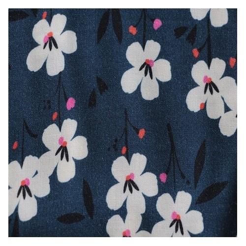 tissu viscose fleurs dashwood