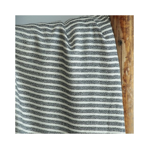 tissu viscose lurex stripes black