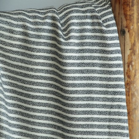 tissu viscose lurex stripes black
