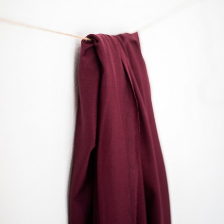 tencel jersey stretch maroon