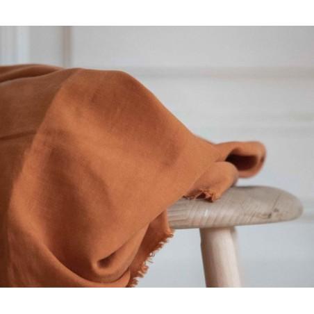 tissu tencel et lin abricot meetmilk