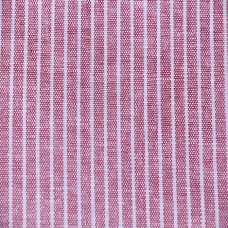 lin et viscose stripe red