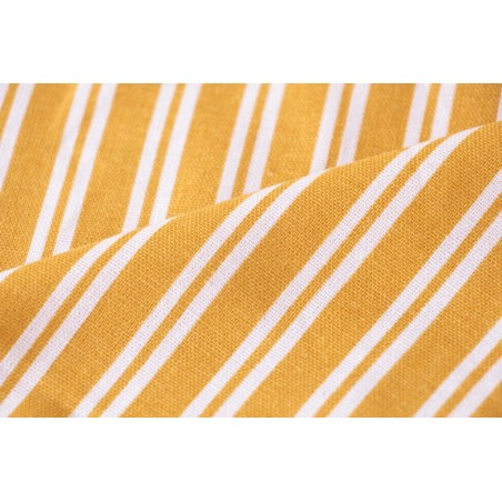 lin et viscose rayures jaunes et blanches