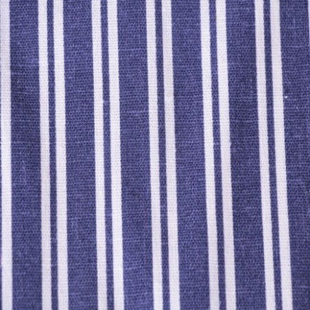 lin et viscose rayures bleu et blanches