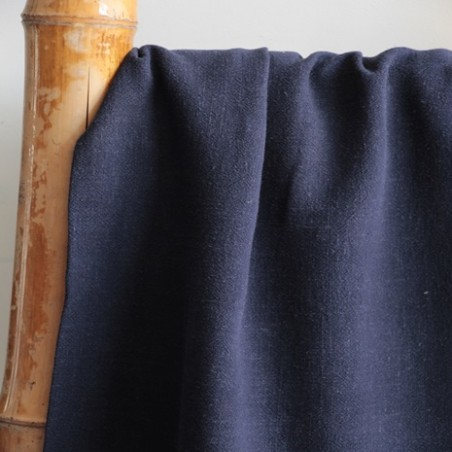 lin et viscose bleu marine