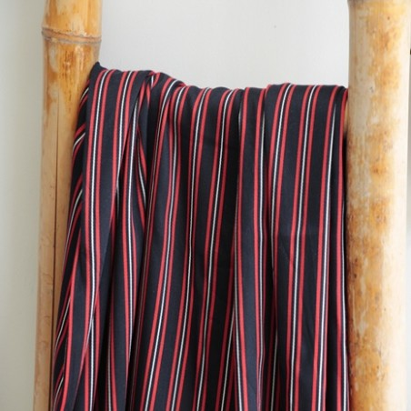 viscose stripes navy red