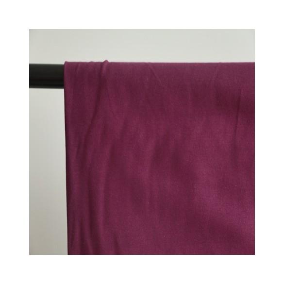tissu sweat bio violet