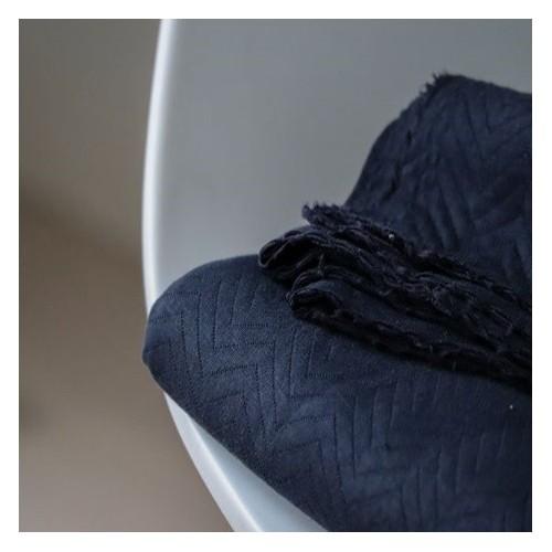 jersey matelassé bio dark navy