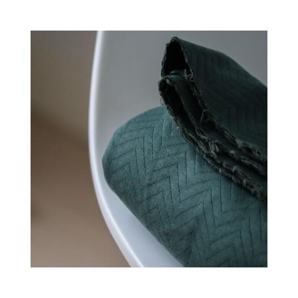 jersey matelassé bio dark green