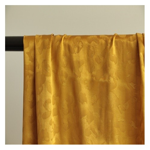 viscose jacquard moutarde satin