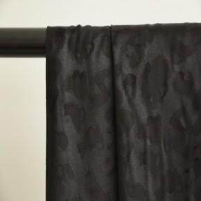 viscose jacquard noir satin