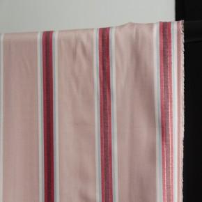 tissu viscose nude et rayures multico