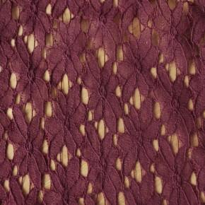 tissu dentelle bordeaux