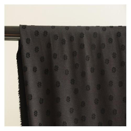 jersey milano fleurs noires