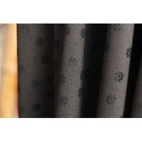 maille milano noire fleurs noires