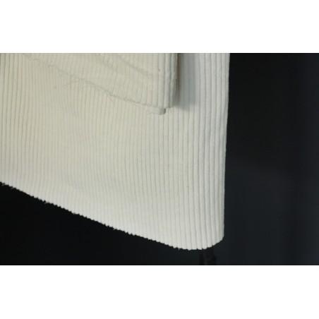 tissu velours blanc cassé