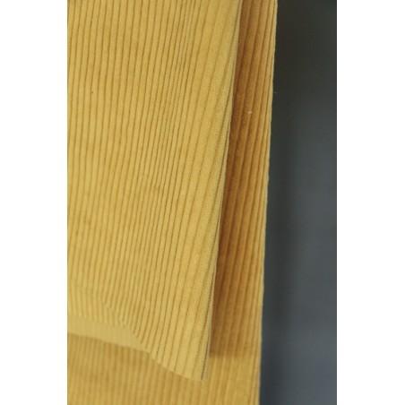 tissu velours grosses côtes bronze