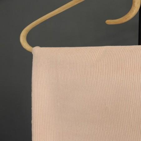 tissu velours côtelé rose tendre