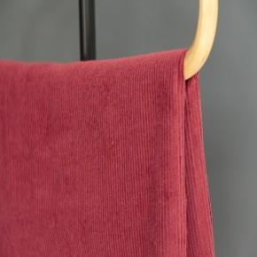 tissu velours côtelé bordeaux